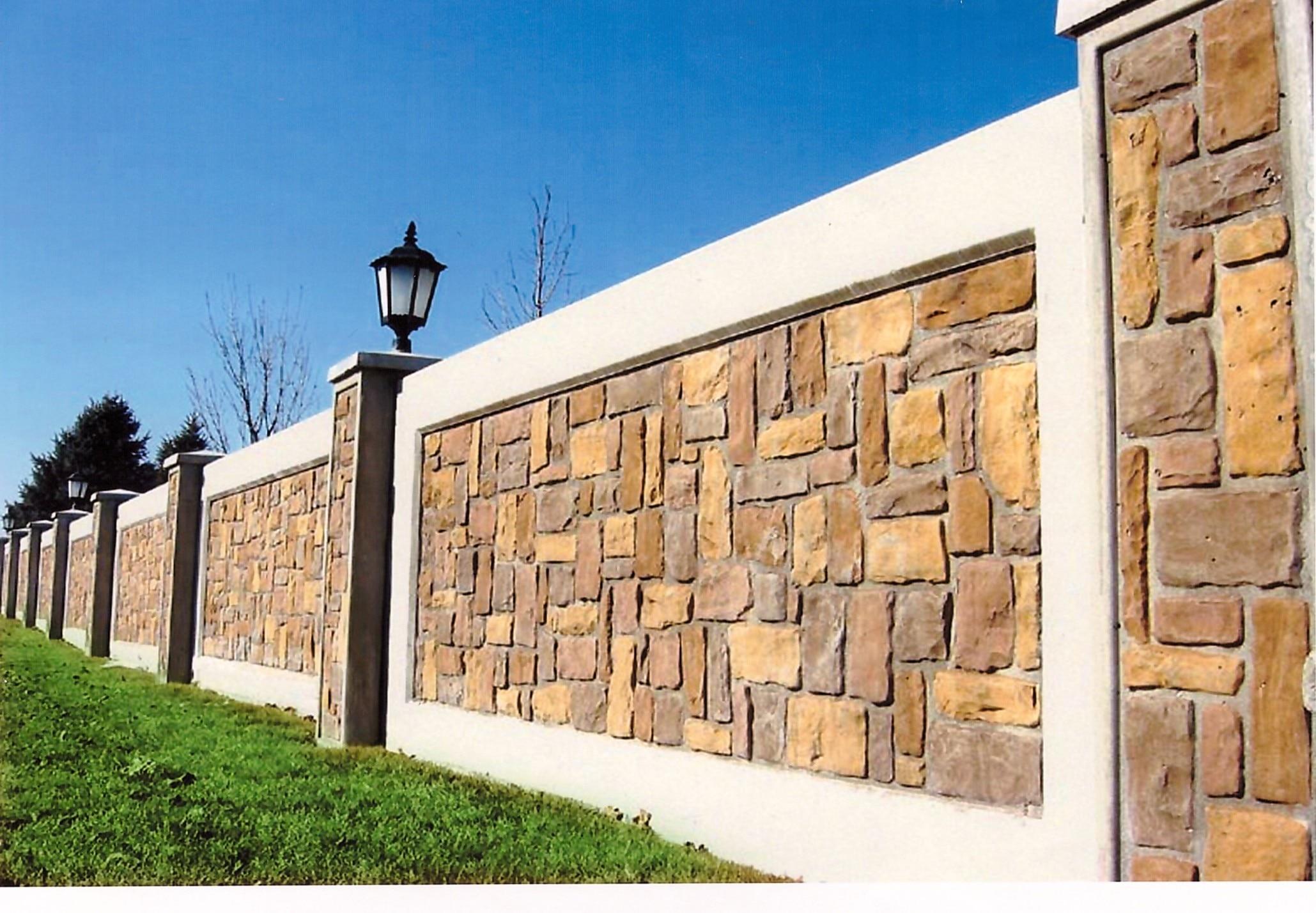 Дизайн заборов из бетона