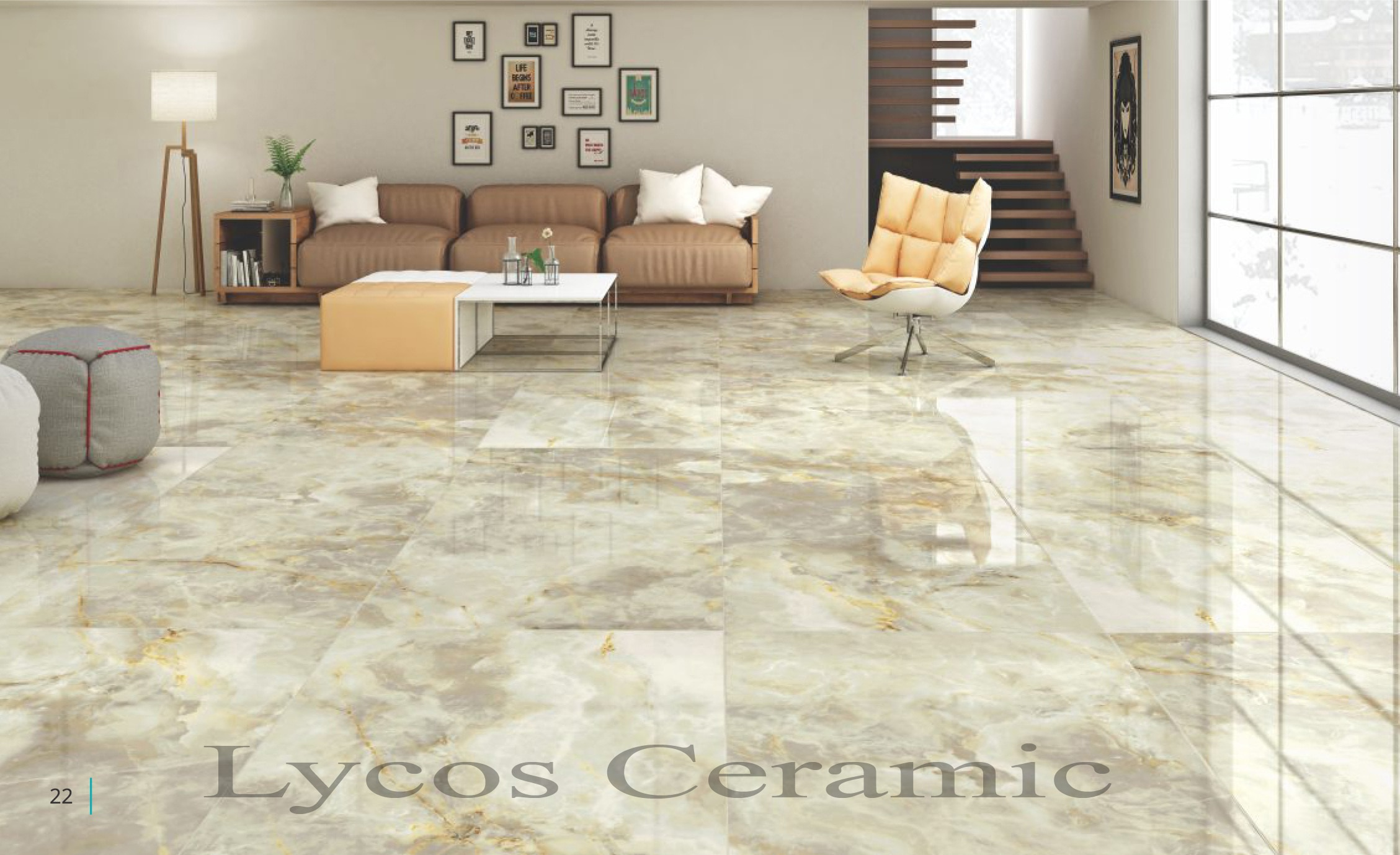 Floor porcelain tiles