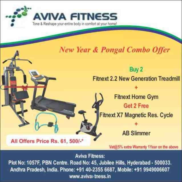 Begin the year with our New Year & Pongal offer... Stay Fit Stay Healthy