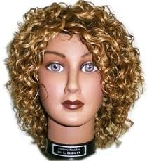 golden hair wig with the curly..