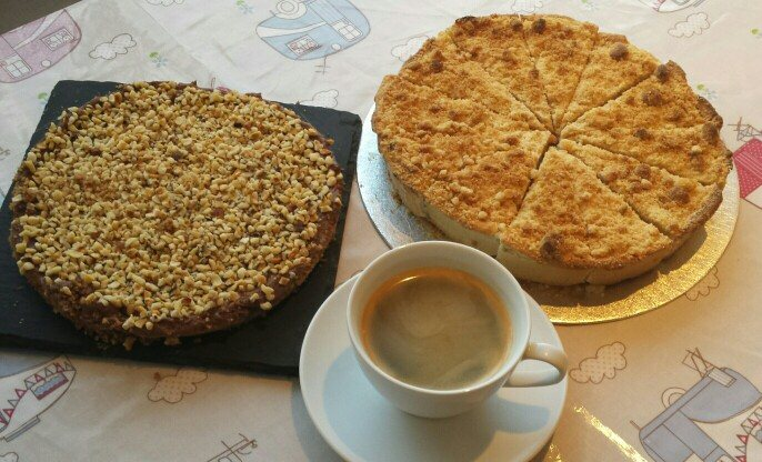 Some of our amazing home baked cakes and our fantastic coffee.