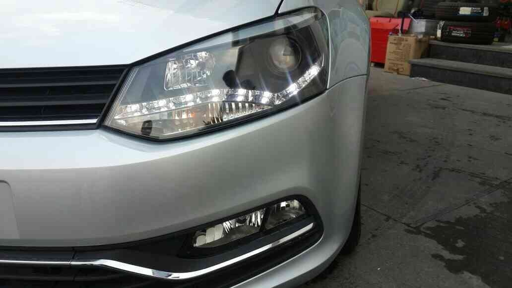 Polo customised headlights with drl