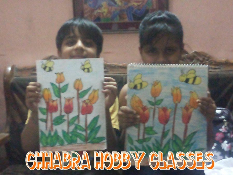 Drawing classes at pitam pura