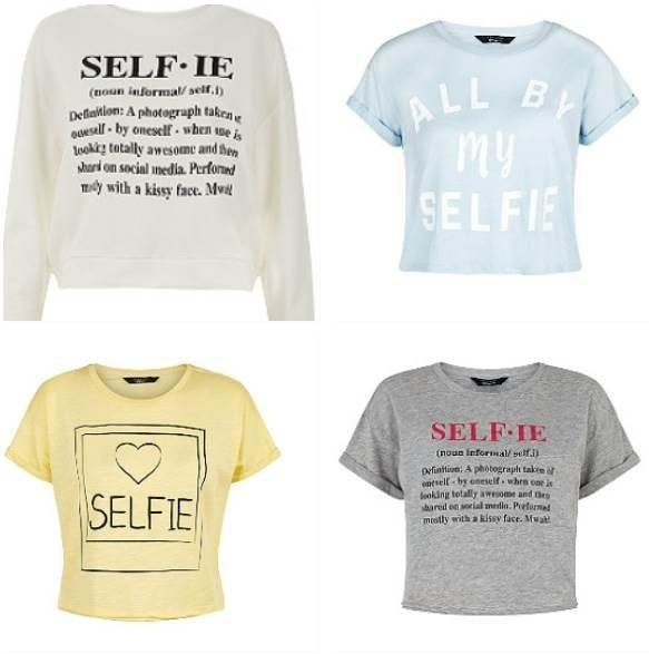 Selfie tops are the latest fashion ! These ones are from new look for about £6.00 each but that grey one at the bottom is on sale for £4.00 !!