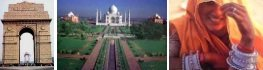 Golden Triangle of North India Delhi: City Tours includes: Humayun's Tomb, Qutab Minar, India Gate, President House, Jama Mosque, Old Market, Raj Ghat, Akshardham Temple, Lotus Temple and Local market  Agra: Taj Mahal, Red Fort, Tomb of I'timād-ud-Daulah know as baby Taj, Local Market along with Marble Shops Fatehpur Sikri en-route to Jaipur  Jaipur: Amer Fort, City Palace, Hawa Mahal, Jantar-Mantar along with local market in Pink City