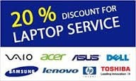 Any laptop servising 20% discount