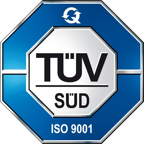 we are certified with the TUV ISO 9001 : 2008