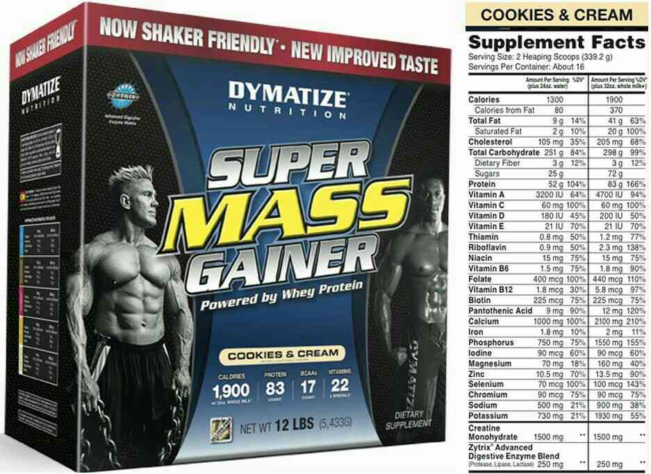 Dymatize Super Mass Gainer  This product which has more quality calories which help to gain weight fast.It has more protein which was also under a budget