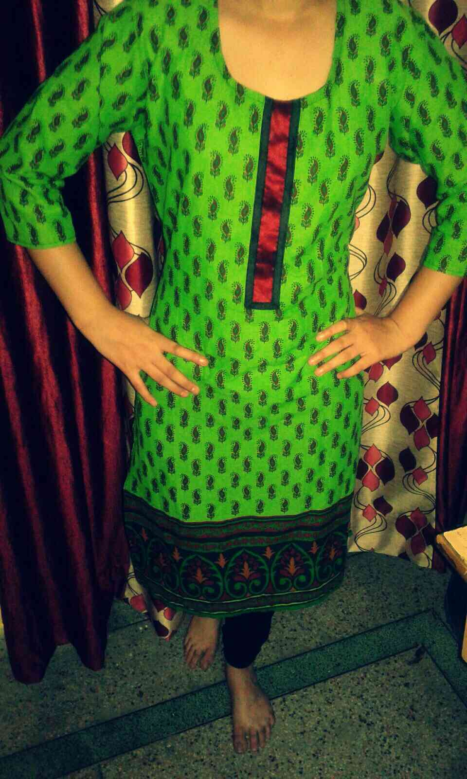 Green Lace Kurti MRP: Rs 1000 Selling Price - 800@20% off Size: XL