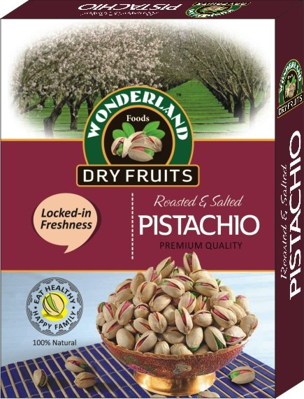 Eat Healthy. Be Healthy. Pistachio helps and support a Healthy Heart and are on of the Most Nutritious Nuts.  Wonderland Foods - Roasted Pistachio Packs in Delhi