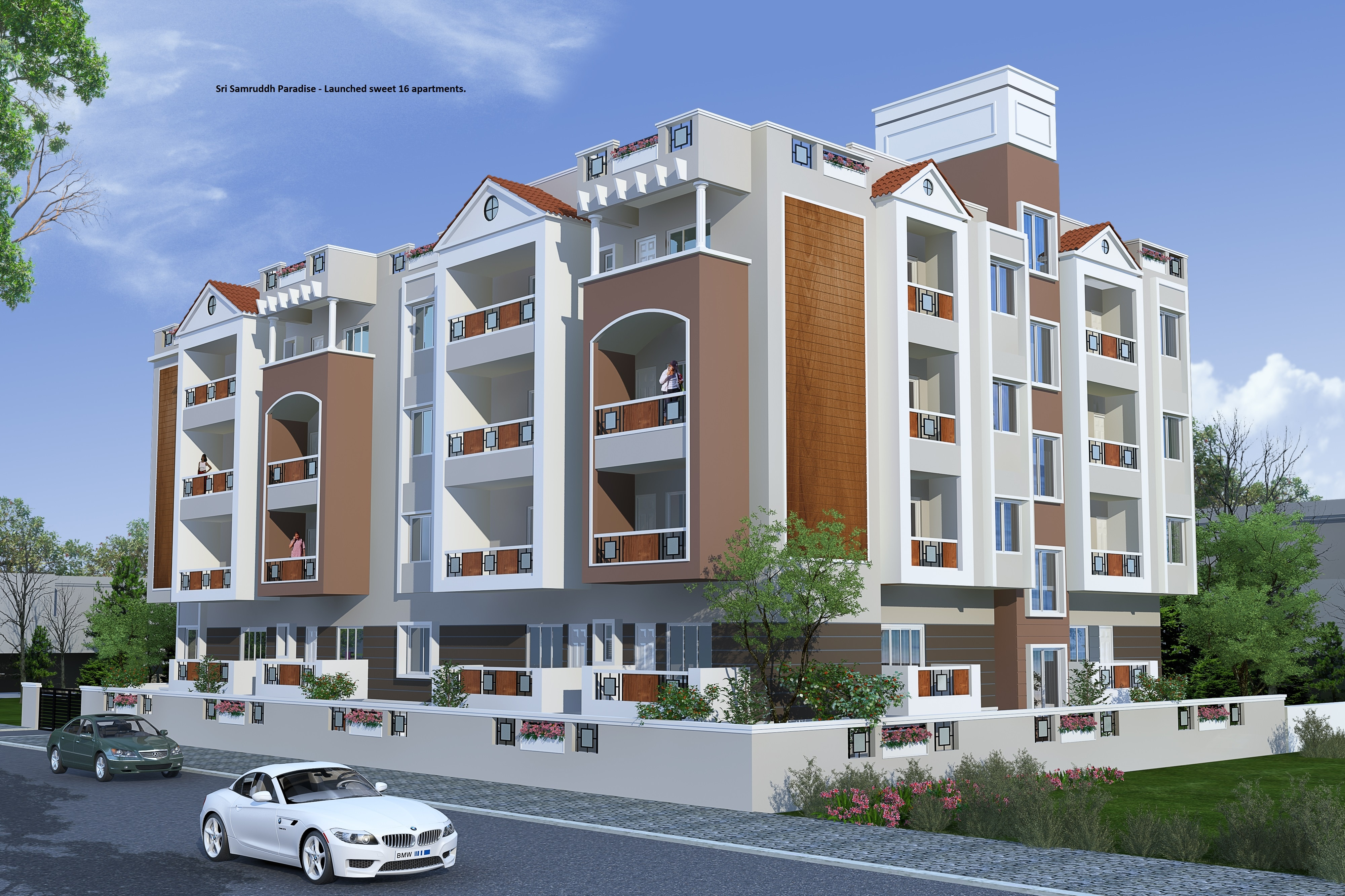 we have 3 and 4 BHK,