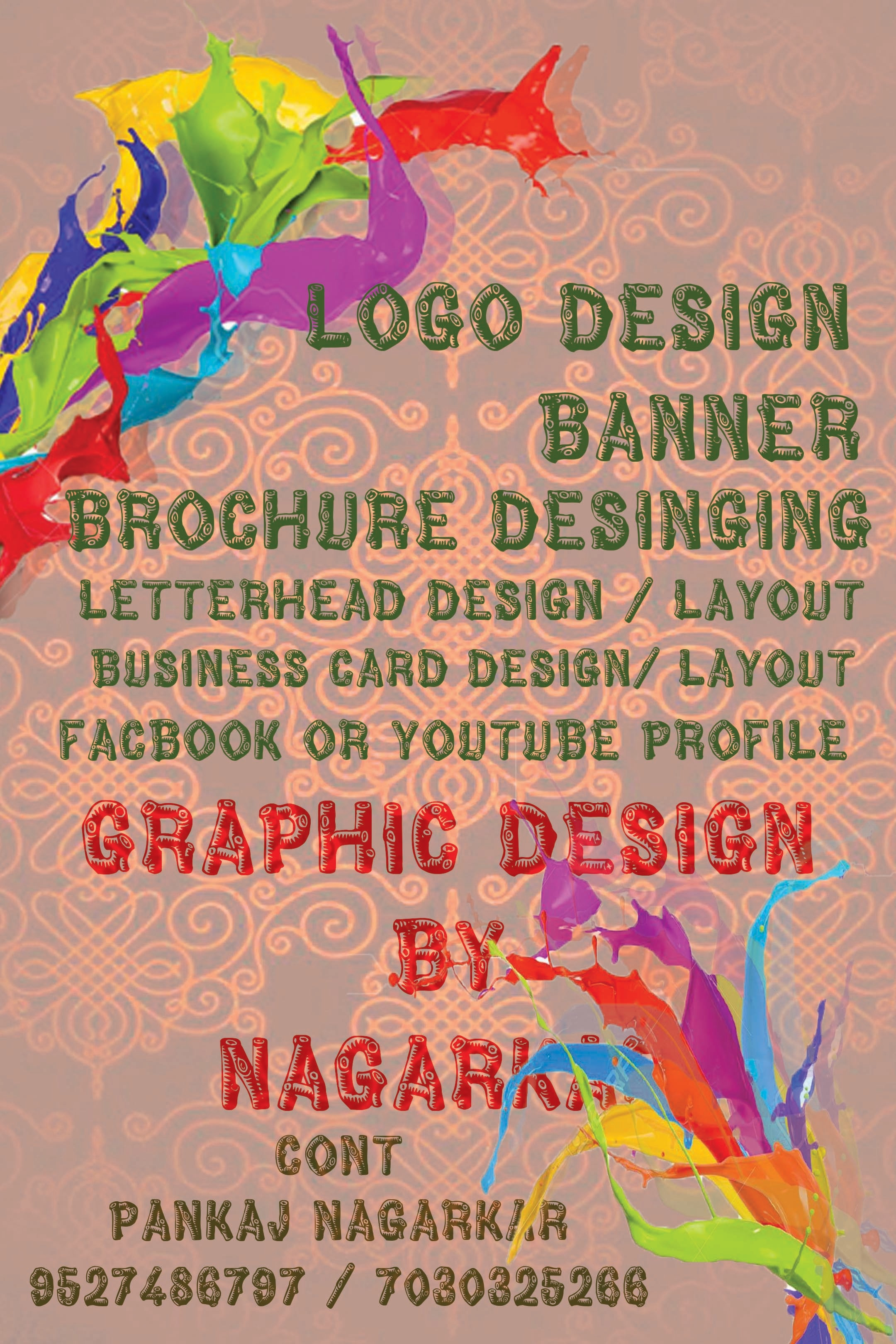i am graphic designer  we are also doing video editing & sound editing