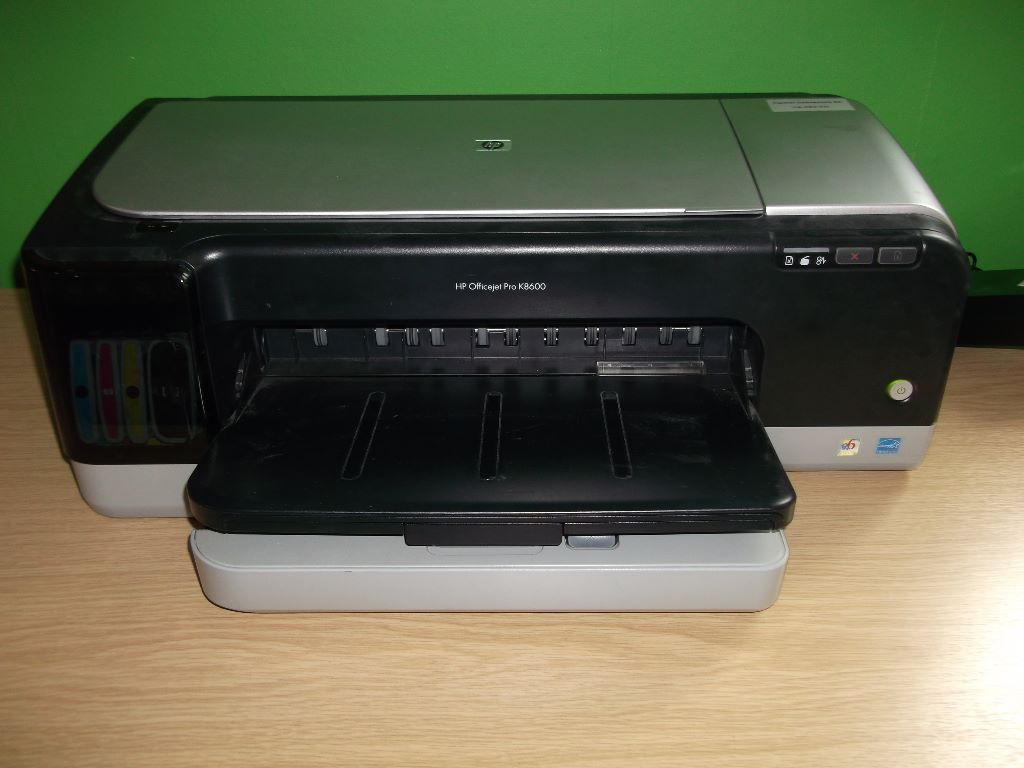 HP A3 Size K8600 Printer   *********With Ink Tank Compatibility*********  Printer Type Workgroup printer - ink-jet - color Width 23.7 In Depth 16.5 In Height 8.8 In Weight 27.12 lbs Monthly Duty Cycle (max) 6250 pages PC Connection USB Print Speed Up to 35 PPM - black draft - Letter A Size (8.5 in x 11 in) Up to 35 PPM - color draft - Letter A Size (8.5 in x 11 in) Connectivity Technology Wired Interface USB Max Resolution (B& W) 1200 DPI Max Resolution (Color) 4800 x 1200 DPI Box Include: 1 x ink cartridge (Black)  1 x ink cartridge (Cyan)  1 x ink cartridge (Magenta)  1 x ink cartridge (Yellow) *********With Ink Tank Compatibility*********