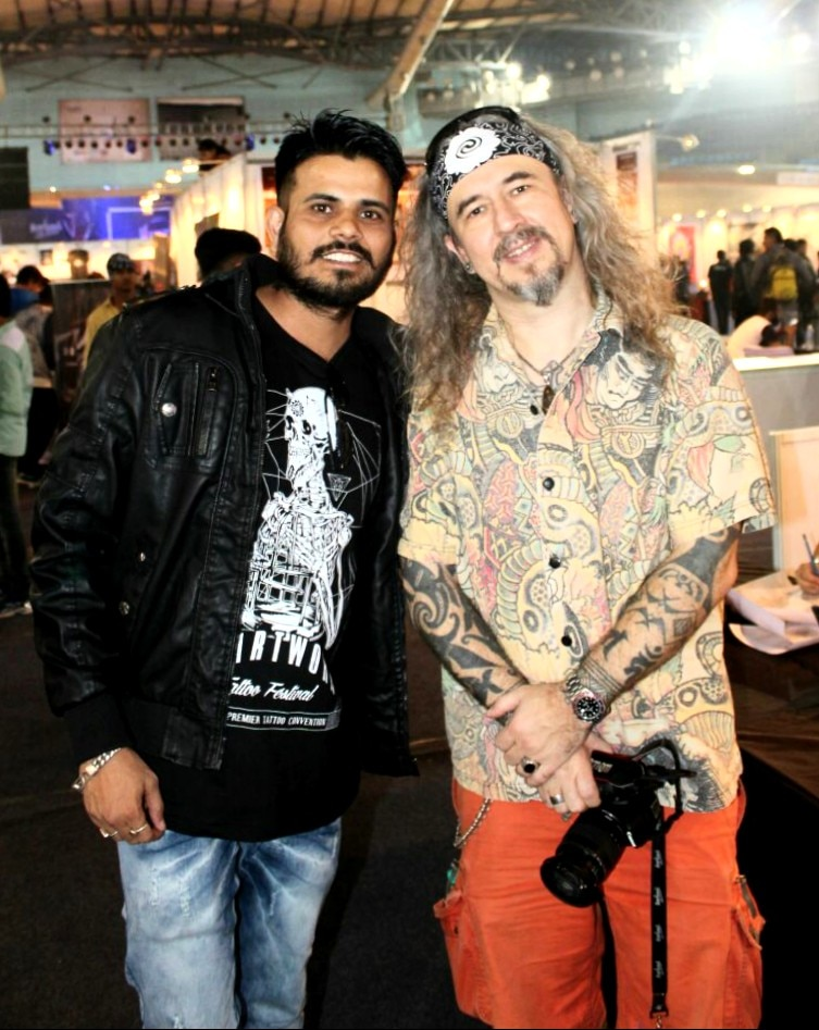 rajveer singh at heartwork tattoo festival