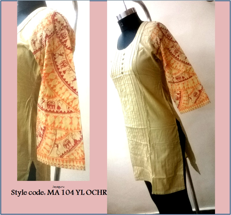 It is a great initiative to introduce an exclusive range of hand painted designs ranging from kurtis, tunics, dresses and tops. These pieces have been individually crafted. Surely you will love them !!