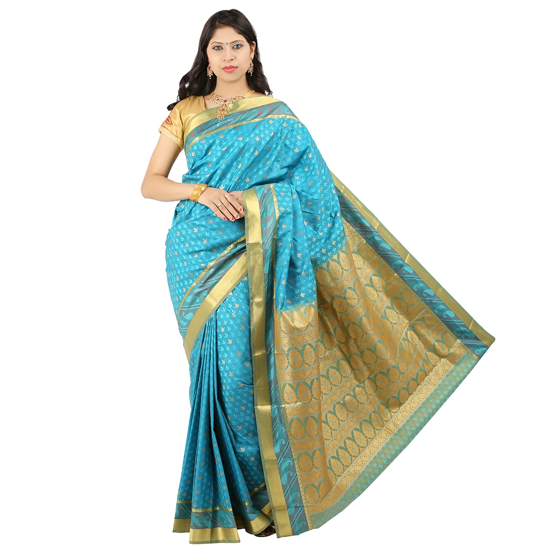 Art Silk Saree Manufacturers,  We are among the pioneers in the industry, making available Embossed Silk Sarees to our valuable customers. The offered sarees are highly regarded in the industry for their distinctive designs and vibrant colors. All these pieces are made available with blouse pieces that have similar detailing as that of the saree. With their enchanting color combinations and optimum finish, these sarees are sought after by a large number of customers.  Features:      Vibrant colors     Made available with blouse pieces     Enchanting color combinations