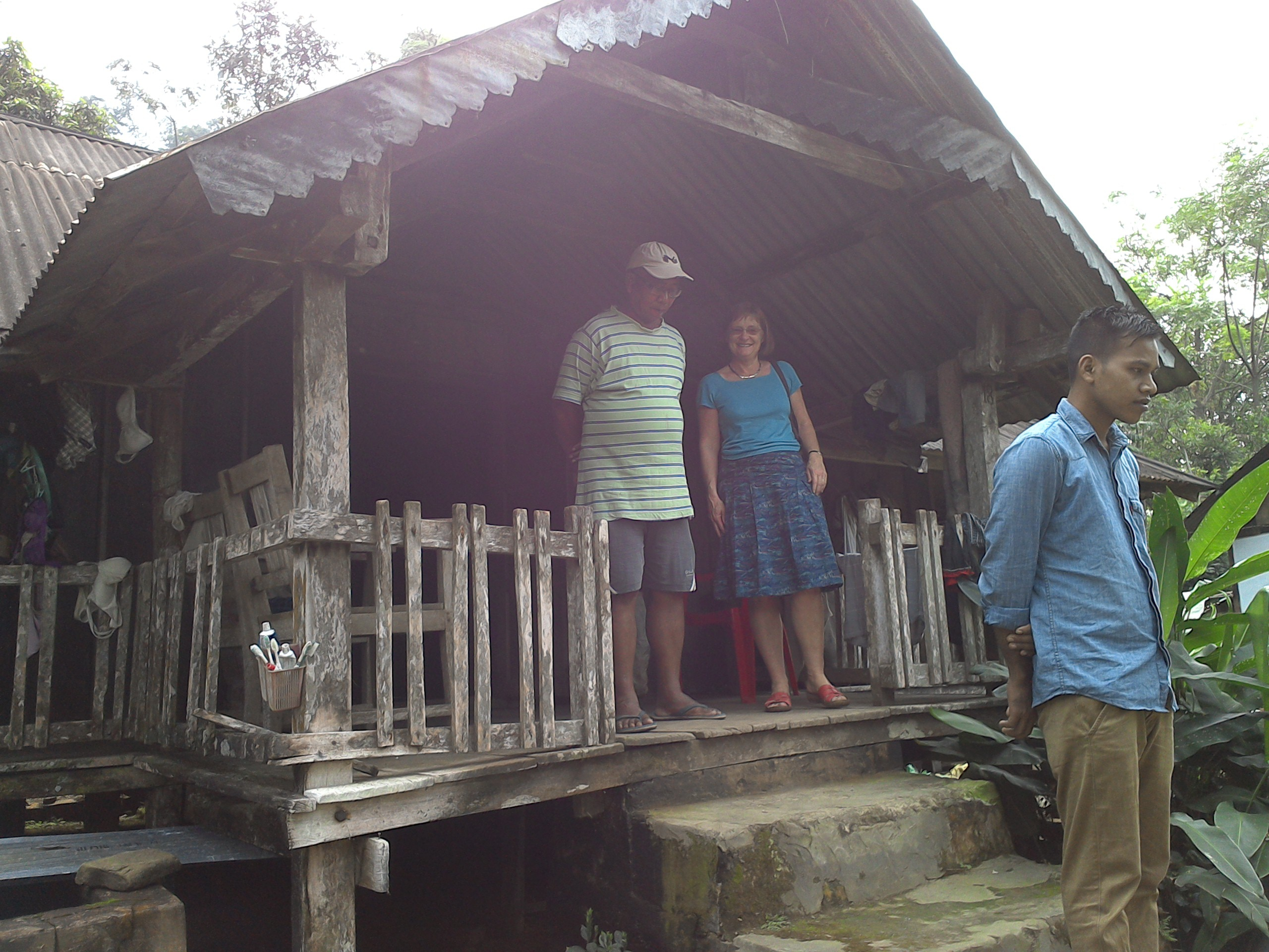 Foreign Guests visiting Haflong tribal villages