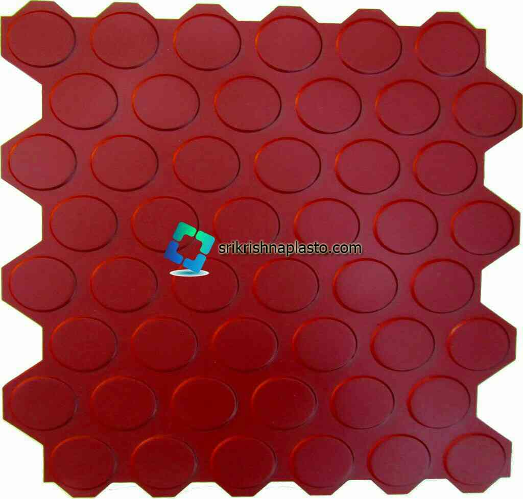 interlocking Concrete floor tile making Rubber Moulds India. srikrishnaplasto manufacturing  Rubber Moulds for Concrete interlocking tiles with extra high glossy finishing