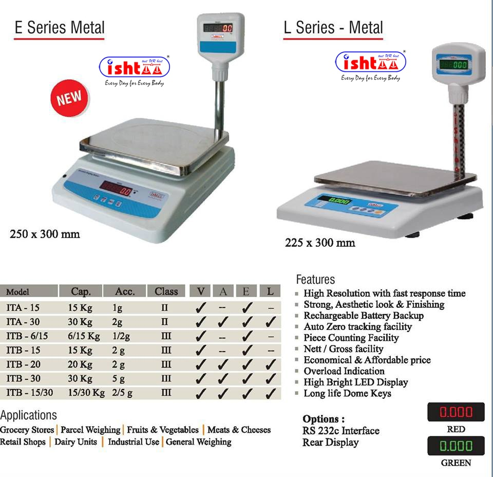 Best Table Top Scale Manufacturers in South India. Accurate-Ishtaa Coimbatore The One Stop solution for all types of Electronic Weighing Scales We Make, You Weigh High Performance Weighing Scales are Chiseled here.. To Buy Now, Call: 09843016028 Mail: online@ishtaascales.com website: www.ishtaascales.com
