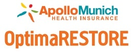 APOLLO MUNICH HEALTH INSURANCE BEST AWARDED OPTIMA RESTORE PLAN GIVES YOU UP TO 3 TIMES BENEFITS WITH 50 % BONUS, ALL DAYCARE PROCEDURES, RESTORE BENEFIT, TAX BENEFIT U/S 80 -D, LIFE LONG RENEWAL WITH BENEFITS OF FLOATER AND INDIVIDUAL PLANS.. SENIOR CITIZEN PLANS ALSO AVAILABLE. FASTEST CASHLESS CLAIM SETTLEMENT.