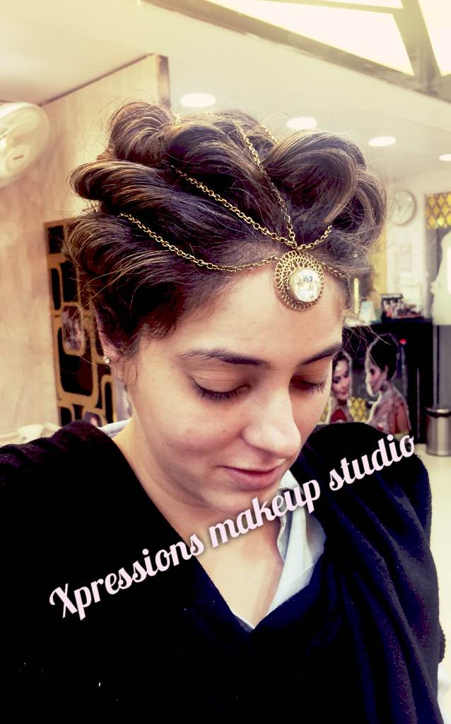 Lovely hairstyle @Xpressions Makeup studio Lajpat Nagar