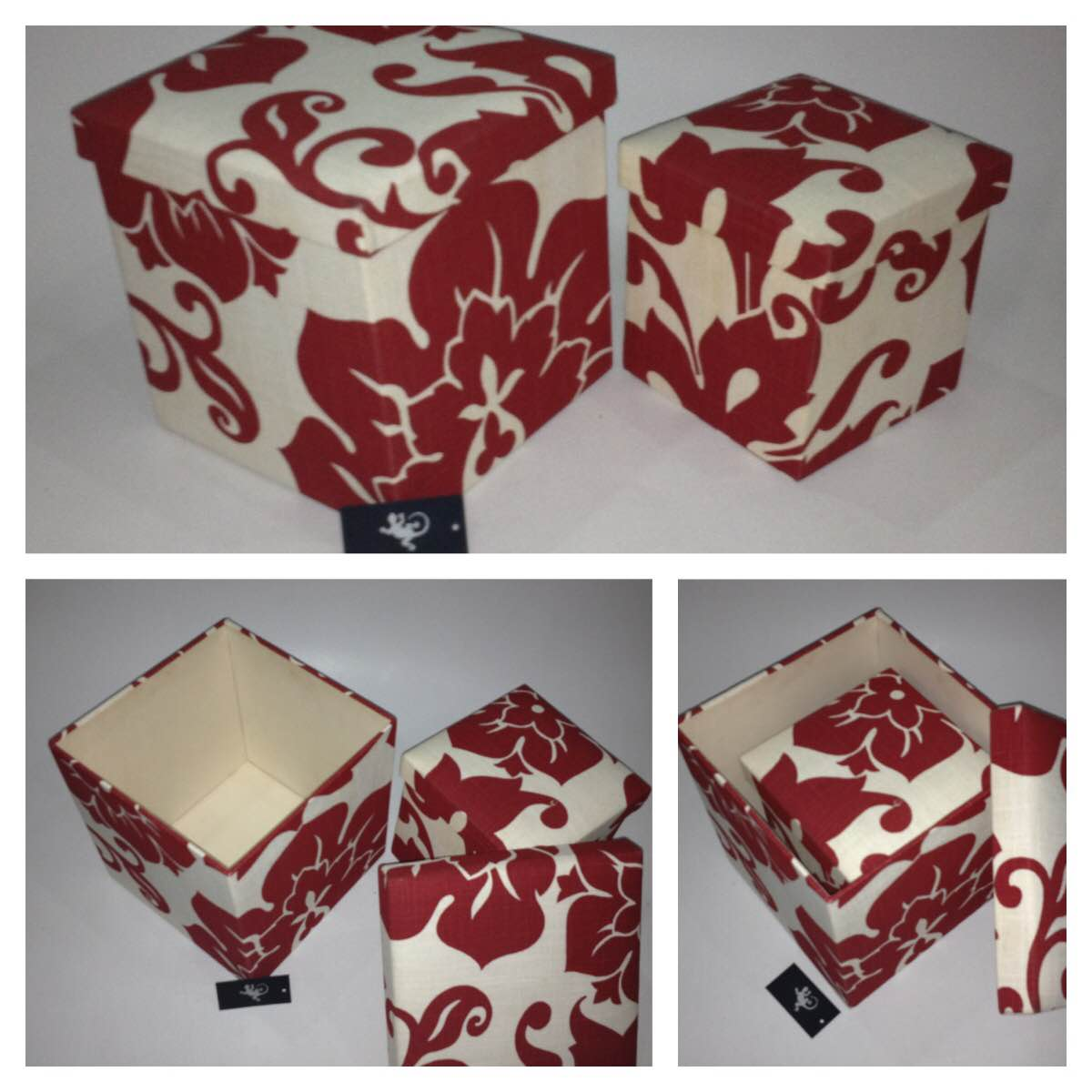 Customised gift boxes for all occasions. Any size , colour , fabric , shape. Chameleon Accessories