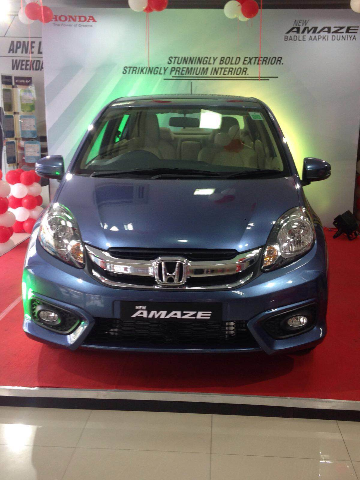 The New Facelift Amaze is on display at Pride Honda Madhapur, drive home the stylist car. Booking are open.