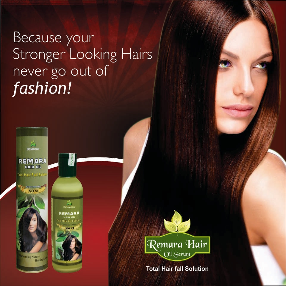 Remara Hair oil conditions the hair, removes frizz from hair and restores its luster and smoothness.