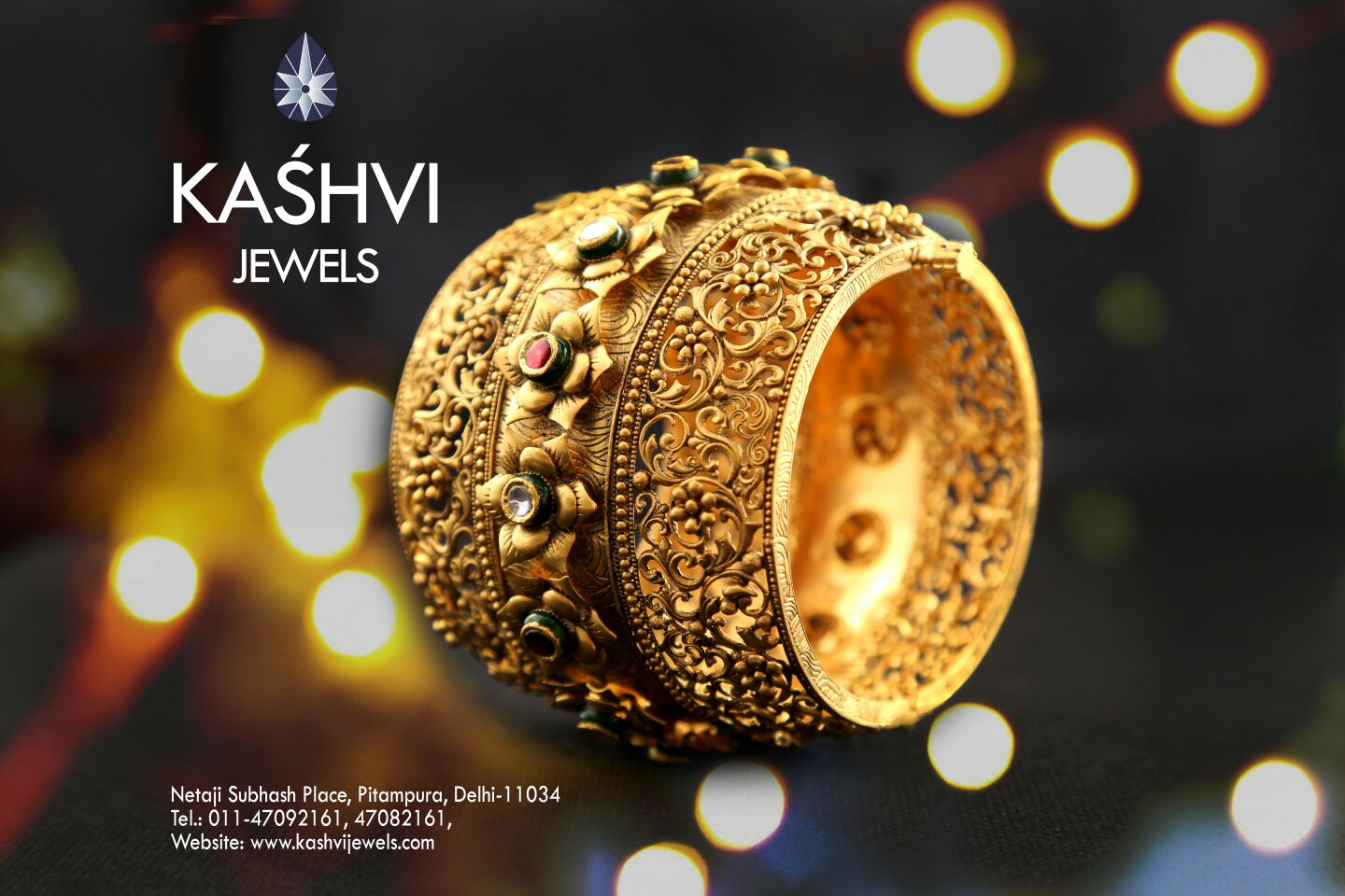 Best Jewellery Shop in Pitampura  Jewellery beautifies a person's beauty with glow of silver and gold. Beautify yourself. Come to us.  For more info: http://kashvijewels.com/