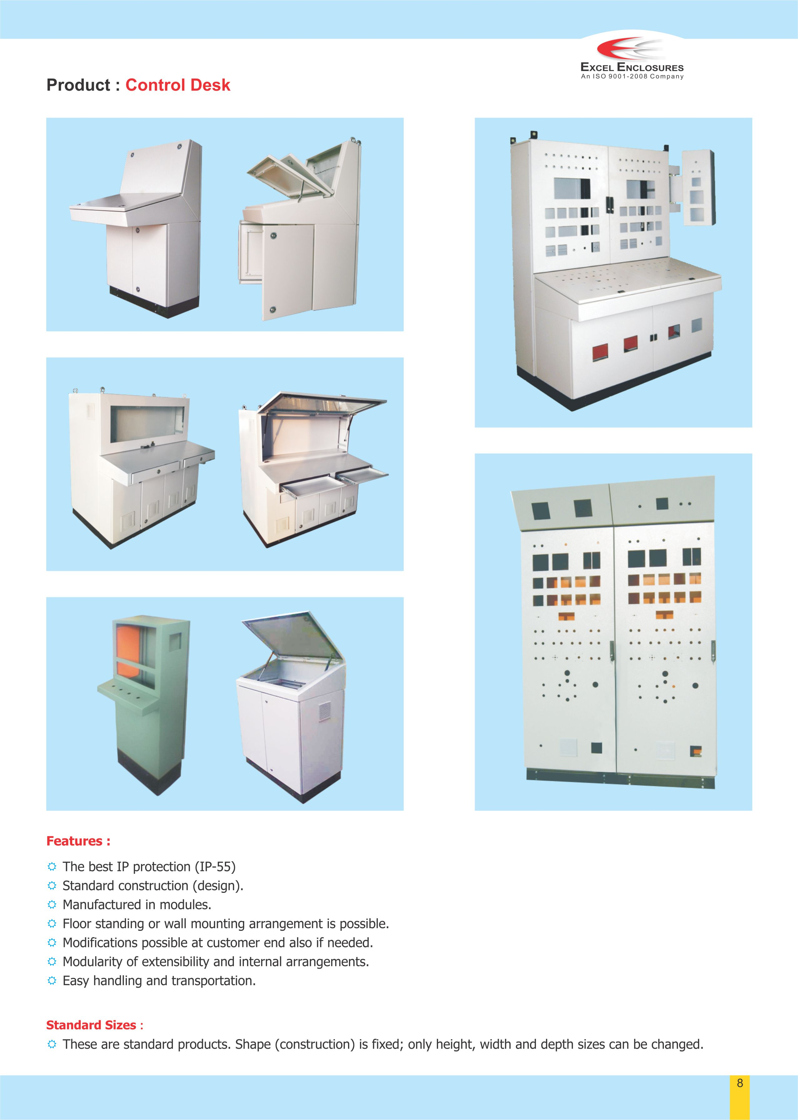 Various Type of Control Desk manufacturer in Pune.