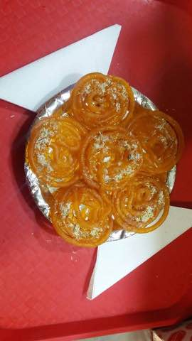 Jalebi made up of pure ghee and medha.We are known for this sweet and it is our famous sweet available at Kesariyas
