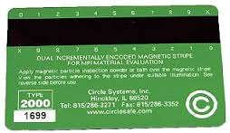 """Bath Validation  Magnetic Stripe Card:- TYPE 2000 MSC – This card is recognized as a tool for evaluation of fluorescent weth method baths in ASTM E709-01 """"Standard Guide for Magnetic Particle Examination"""" as well as in ASTM E-1444-05 """"Standard Practice for Magnetic Particle Testing"""", TYPE A MSC – This card is a high coercivity magnetic stripe card that assists in evaluating the quality of fluorescent magnetic particle baths and Sirchem® Dry Powders. The card acts as a test piece and supplement to the ASTM D-96 settling tube, Ketos ring and other tests of magnetic particle materials."""