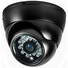DOME CAMERA: Dome cameras offer an aesthetic design wherein the camera, lens and cabling are hidden and protected inside of a domed enclosure.  They are available in both indoor and outdoor models,  Dome cameras offer an attractive protected camera for indoor applications and a rugged vandal and weather resistant design for outdoor applications. Dome cameras are available in HD and multi-megapixel resolution, offer day / night functionality, integrated IR illumination, two-way audio and integrated memory card storage.