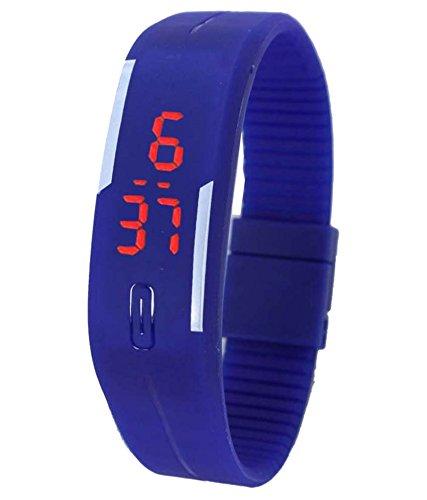 Varni Retail Led Rubber Magnet Black Colour Digital Watch