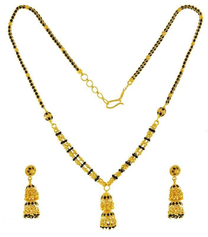 Black Beeded Chain...!!!  www.bhoslejewellers.com