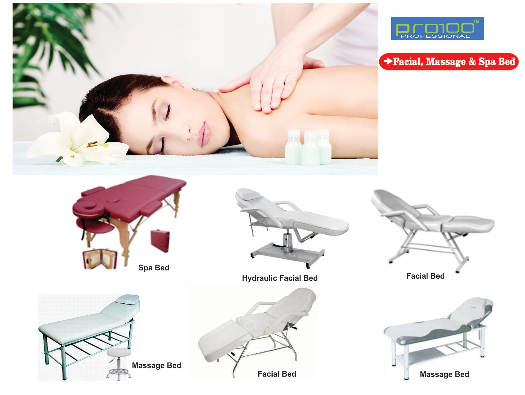 Upgrade your salon with our professional range of FACIAL MASSAGE and SPA BED . Contact us for best price. We are SUPPLIER OF FACIAL MASSAGE and SPA BED in KOLKATA