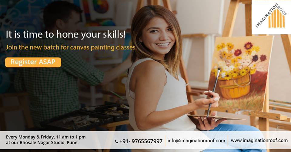 There is no age limit to learn...Come indulge yourself to learn art & craft at Imagination Roof.....Don't wait we are just a call away.