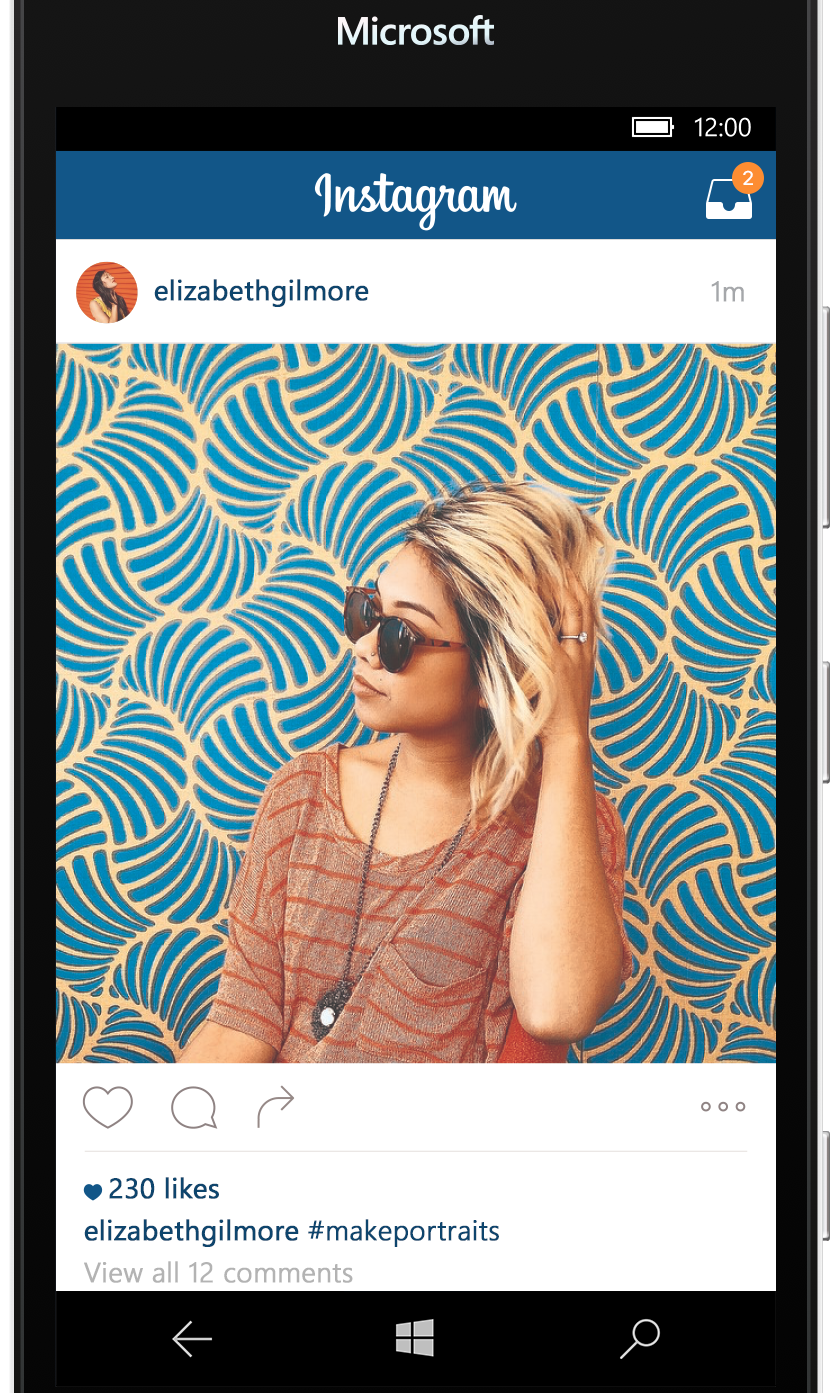 When Instagram first arrived on Windows Phones in 2013, it was a somewhat pale imitation of the experience you get on Android and iOS. Facebook says in its blog post that, at the time,