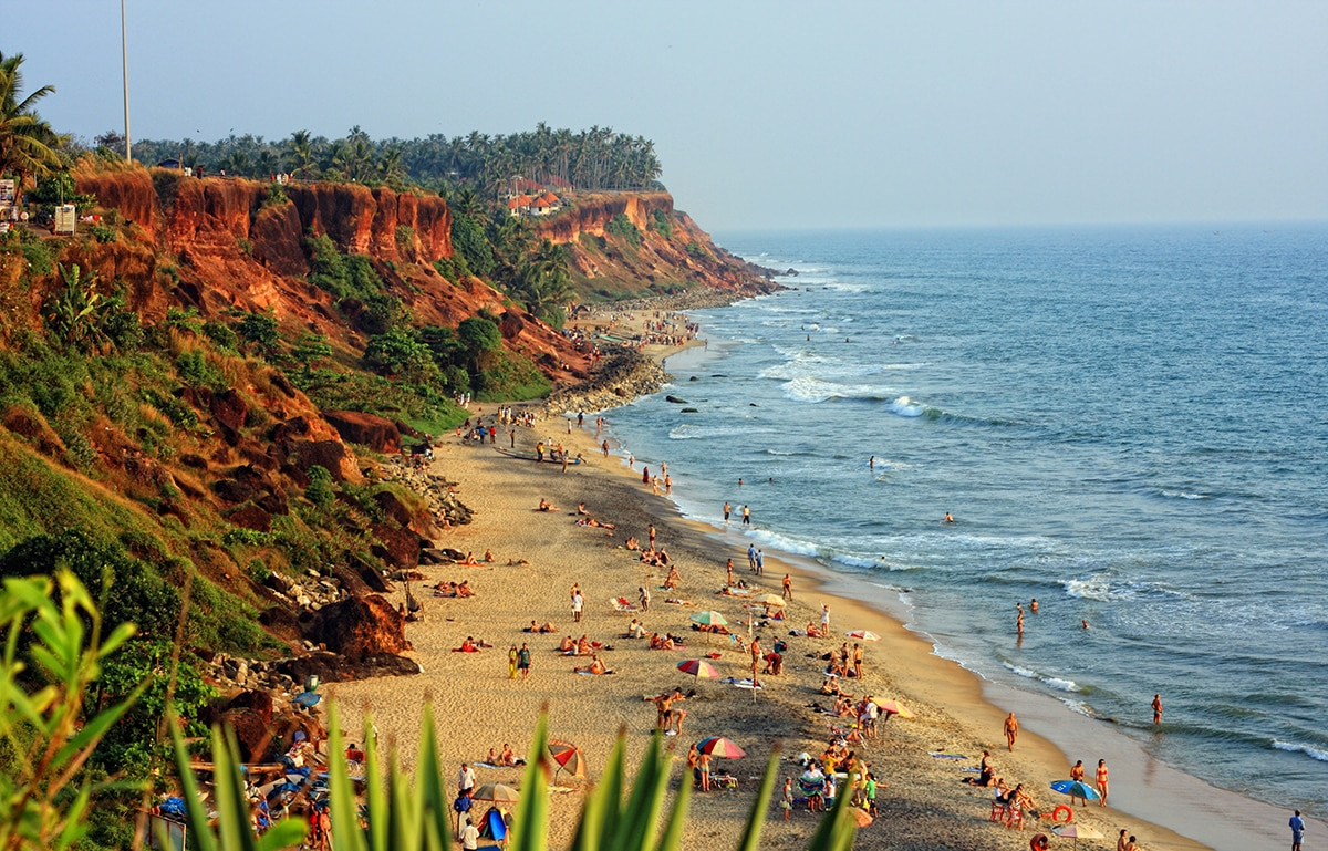 Around 48 kms from Hotel Oasis, Trivandrum, there is a coastal town named Varkala. Its a suburban town of Thiruvananthapuram district. Varkala is the only place in south Kerala where there is a cliff adjacent to the beach and it is declared as a geo-heritage site by Indian Government. Varkala is also home to a famous ashram founded by social reformer,  Sree Narayana Guru.
