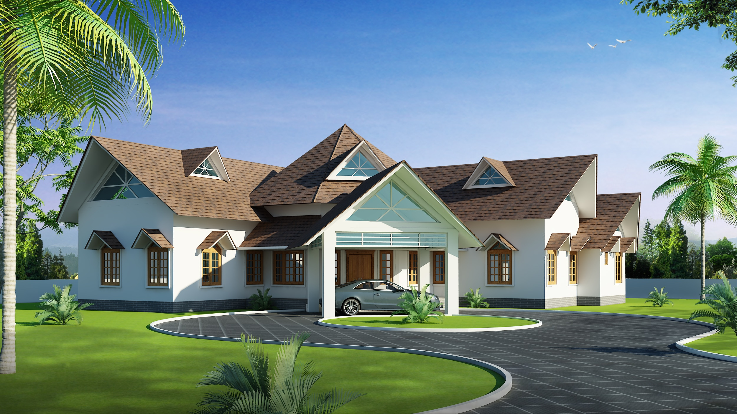 We are professional architects in kochi with variety for Variety home designs
