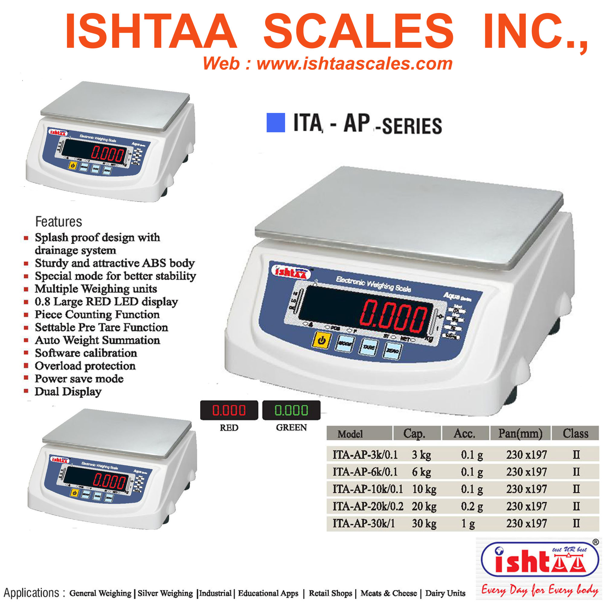 Most Economic Weighing  Scale  in Coimbatore. ISHTAA - AP Series Best Table Top Scales for All Retailers Click here to know more   Compact Design to Carry Anywhere Faster Processing & Better Piece Counting Scale.. Sleek, Small & Stylish Weighing Scale now @ Low Cost. High Bright LED Display, Rear & Pole display available Auto Zero Tracking & Overload Indication Available..!  Applicable  for All  Retail Weighing,  Packing units Vegetable Markets,  Dairy units & Label,  Bakery's  units Silver jewellery shop  Industrial units  Meat & Cheese  Button & other piece counting applications.  Buy now @ Ishtaa Coimbatore. Our Showroom: Raja Street, Coimbatore, 09843015120. Our Central Off: Nava India, Near SNR College,  Coimbatore: 09843016028.