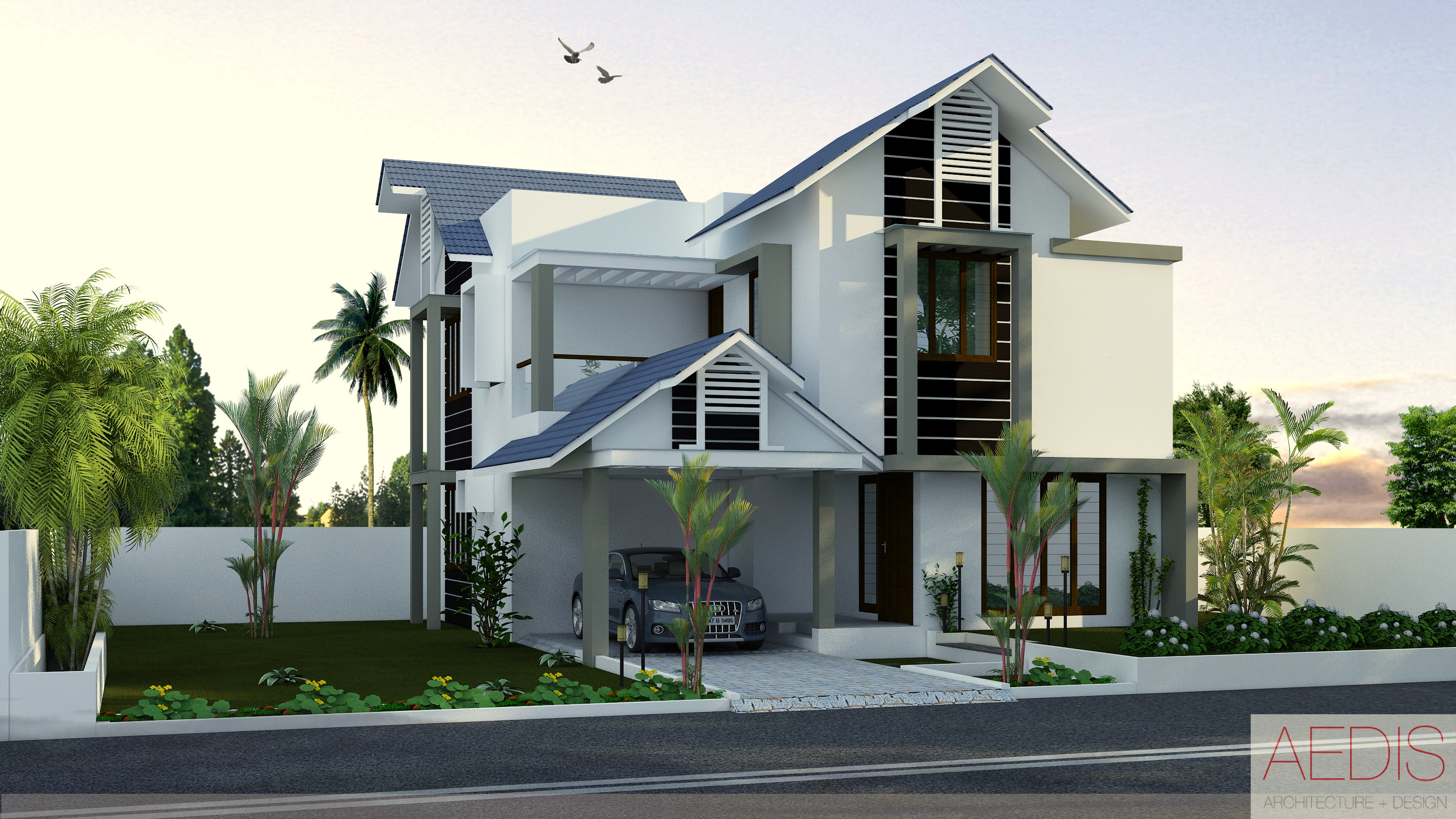 We provide kerala style house designs kerala home designs for Classic house design ideas