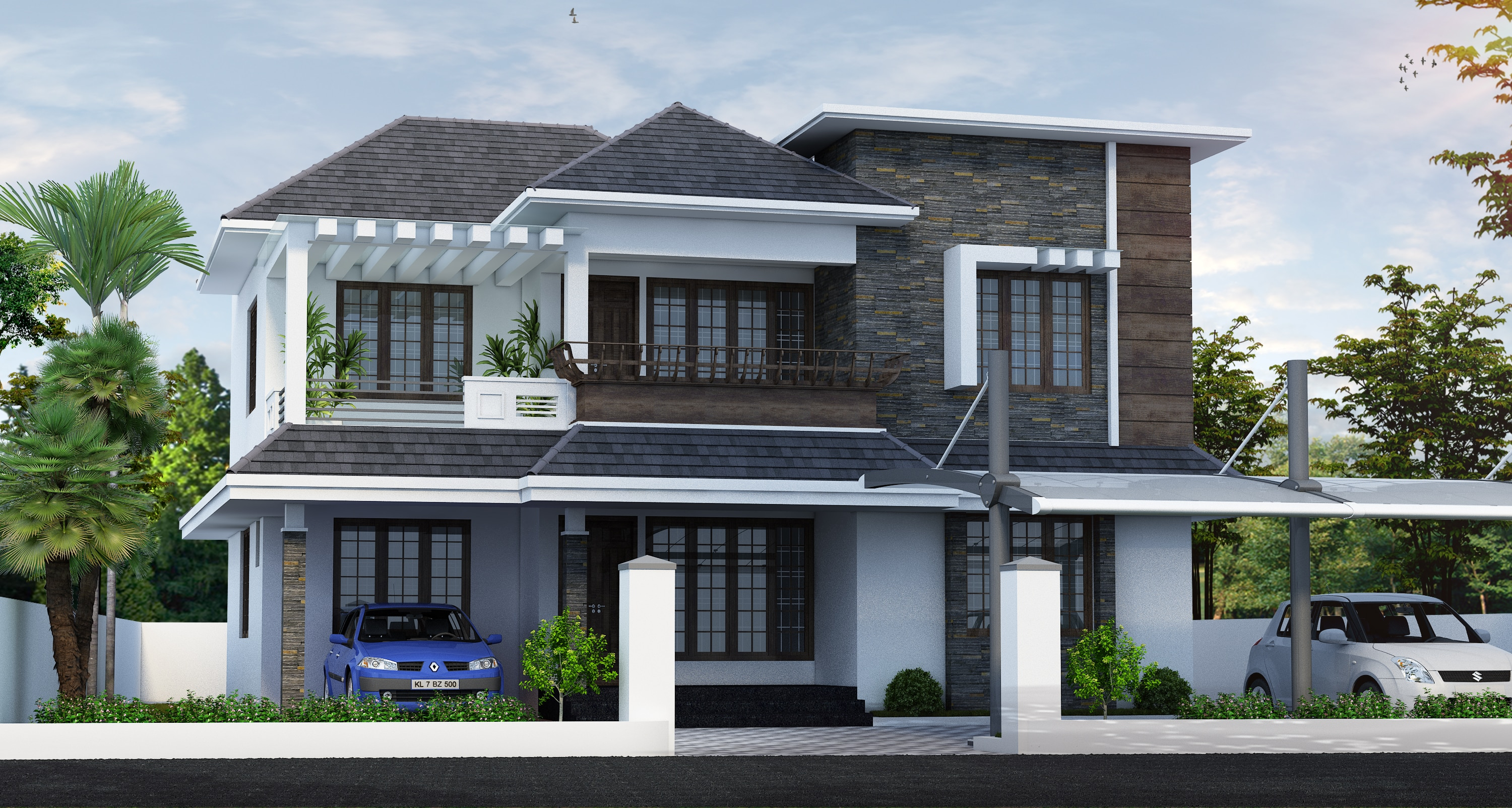 Style houses in kerala house style for House pictures in kerala style