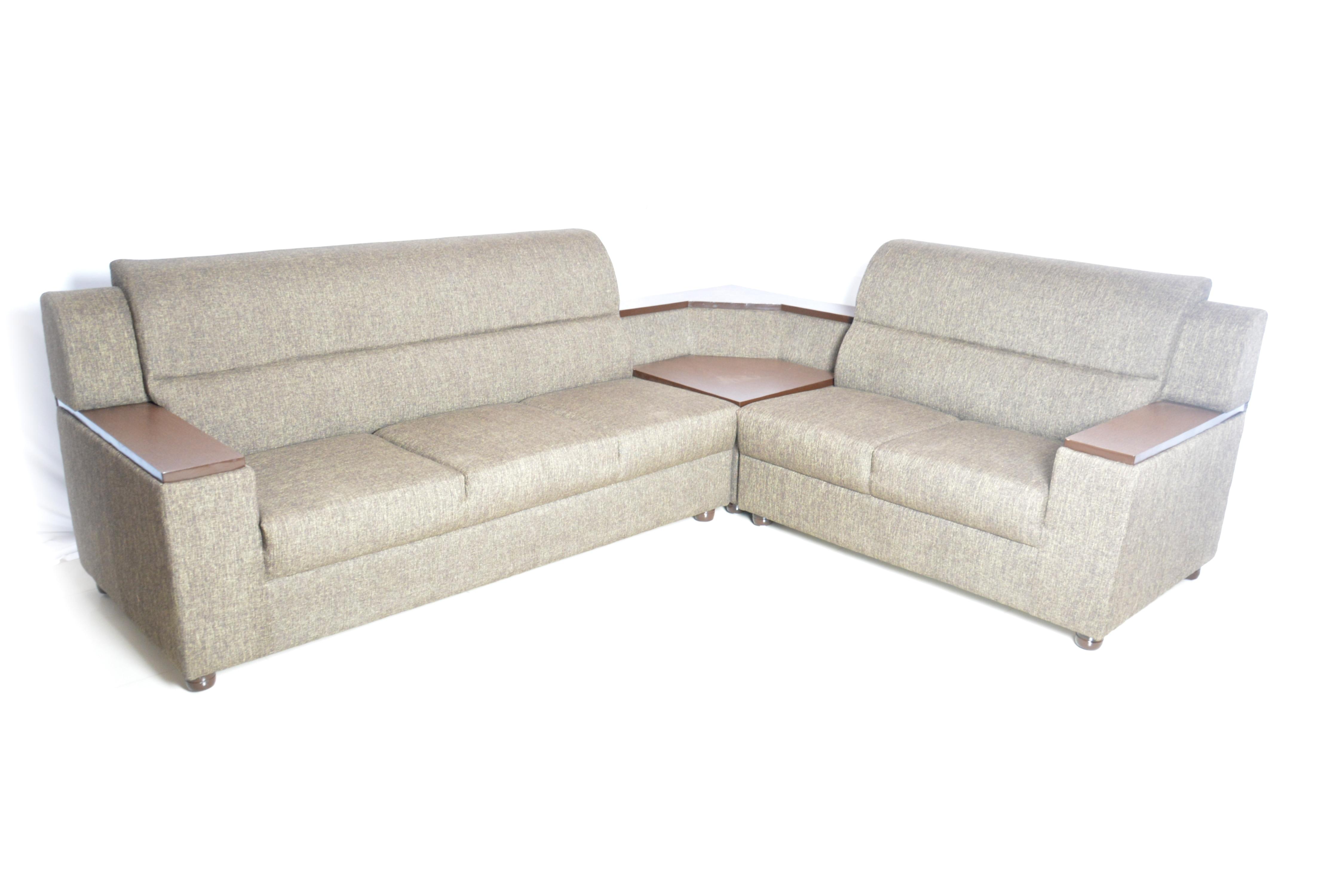 corner sofa fabric military grey