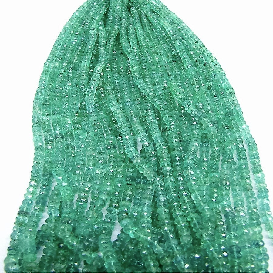 Emerald Beads Available in various quality in both smooth and faceted