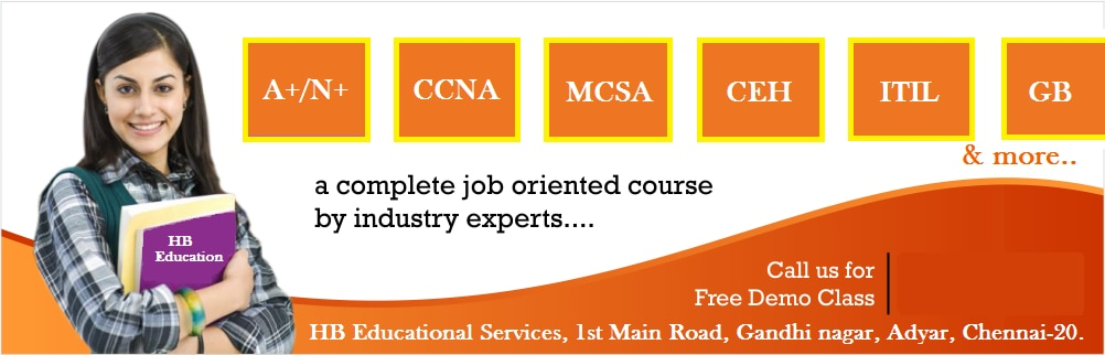 IT Training Institute In Adyar  Join IT training courses at HB Educational Services !! Your success is our goal !!
