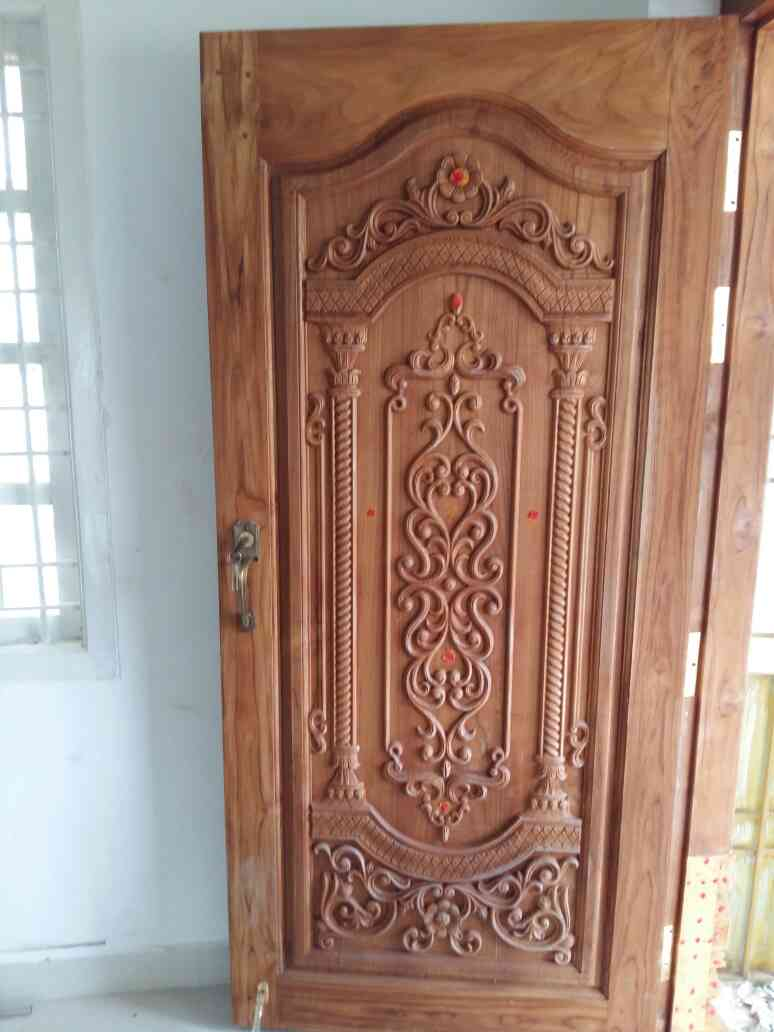 Main door designs home chennai home design for Home front door design indian style