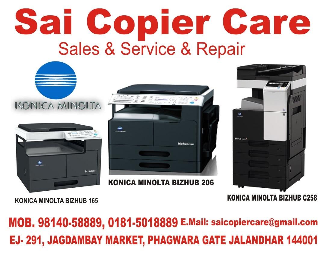 Sai Copier Care suppliers of  Photocopiers B/w, Photocopiers Colour,  Laser Printers B/w,  Laser Printer Colour, Original Toners, Service Repairs & AMCs in punjab jalandhar Mob. 98140-58889