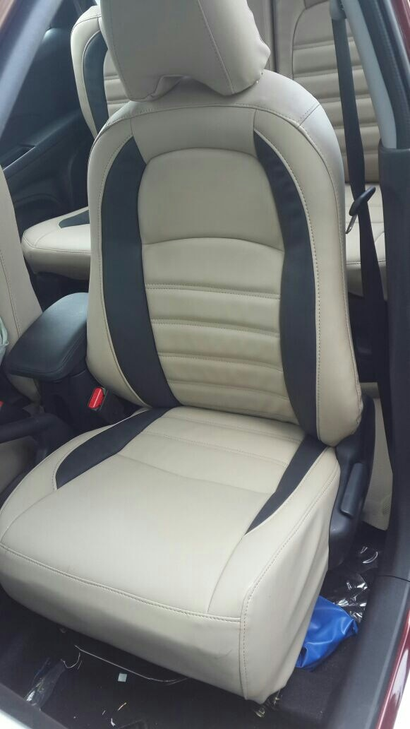 art leather seatcovers installed on HONDA BRV @MOTOMINDS