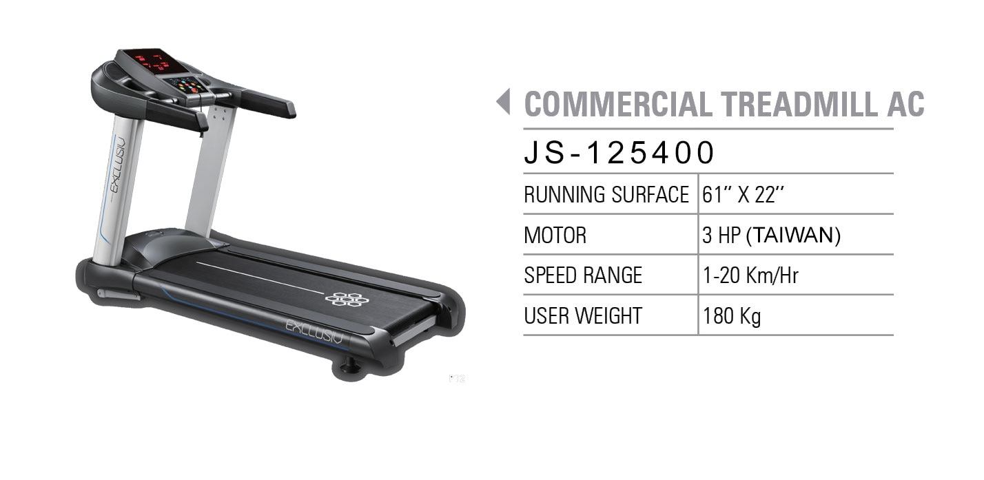 COMMERCIAL TREADMILLS AC GYMCO offers the Best Commercial Treadmills for full commercial purpose, which can be used for GYMS, CLUBS, AND HOTELS, it comes with AC motor , which can be used continuously for about 6-7 hours a day.